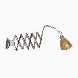 Lámpara de acordeón industrial de AGI, años 20