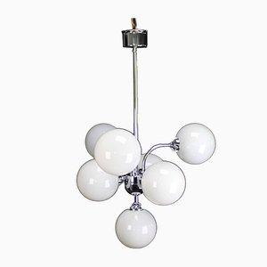 Lámpara de techo Sputnik de metal cromado, años 70