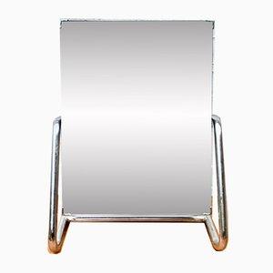 Espejo de mesa modelo D167 vintage cromado, años 50