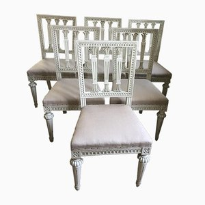 Antique Gustavian Chairs, Set of 6