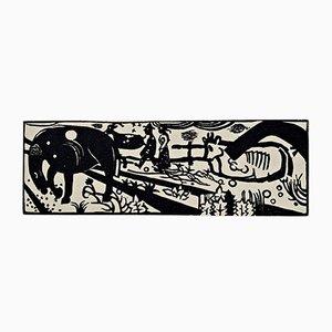 Xilografía con animales expresionista de Heinrich Campendonk, 1918