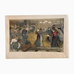 Le Bal de Barrière Farblitografie von Théophile Alexandre Steinlen, 1898