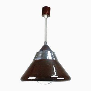 Lampada da soffitto marrone, anni '60