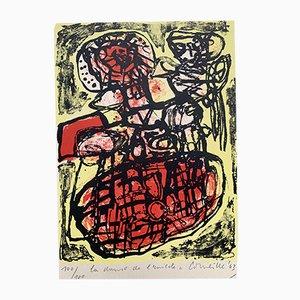 La Danse de l'Insecte Color Lithograph by Corneille Guillaume Beverloo, 1963