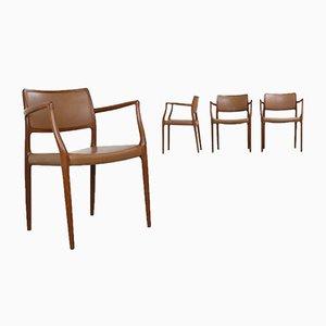 Modell 65 Armlehnstühle von Niels Otto Møller für J.L. Moller, 1960er, 4er Set