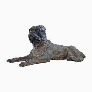 Antiker österreichischer Hund aus Terrakotta, 1800er