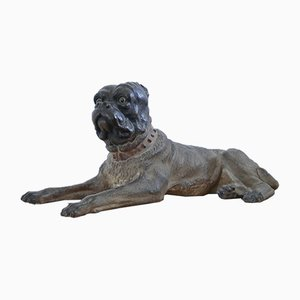 Antique Austrian Terracotta Dog, 1800s