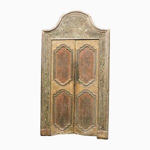 Antike lackierte Tür mit Rahmen, 18. Jh.