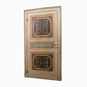 Antike lackierte Tür mit Originalrahmen