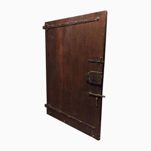 Antique Walnut Entry Door, 1750s