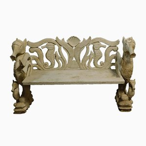 Antique Lacquered Bench