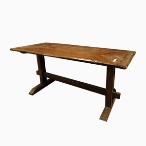 Antiker italienischer Fratino Tisch aus braunem Lärchenholz, 19. Jh