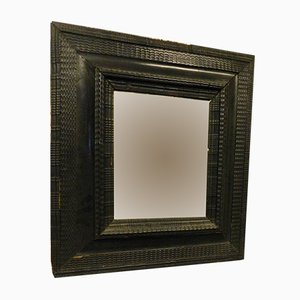 Antique Black Lacquered Mirror, 1500s