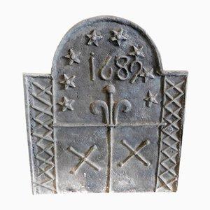 Antikes Gusseisen für Kamin, 1689