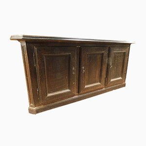 18th-Century Italian Brown Walnut Sideboard Facade with 3 Doors