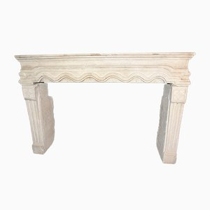 Antique Borgogna Stone Fireplace