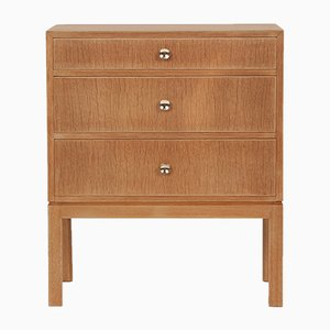 Oak and Brass Dresser by Tove & Edvard Kindt-Larsen for Thorald Madsens Snedkeri, 1960s