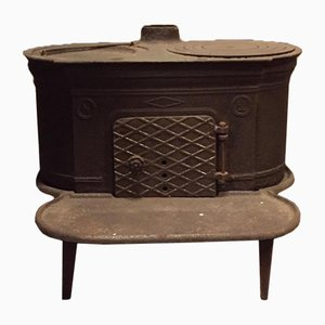 Antique Italian Wrought Iron Stove, 1900s