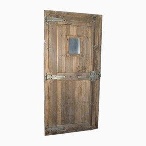 Puerta de cámara frigorífica antigua, década de 1890