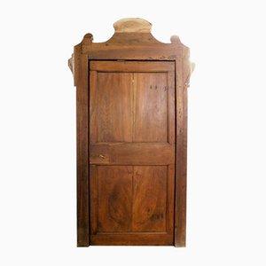 Antike Tür aus Nussholz, 1730er