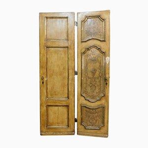 Antike lackierte Doppeltür, 1730er