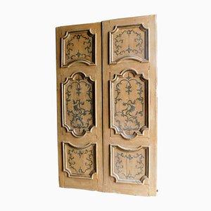 Antike lackierte Doppeltür