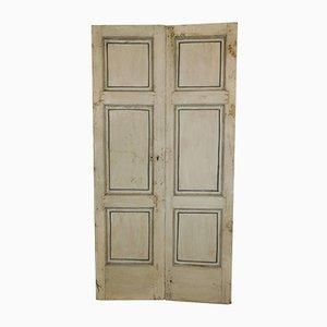 Portes Double Antiques Laquées