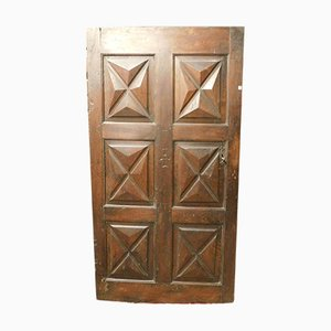 18th-Century Diamond Carved Walnut Door