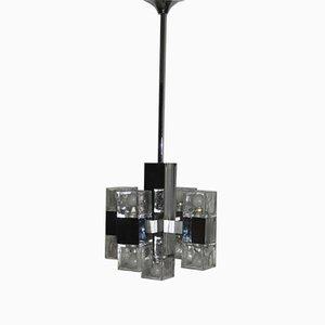 Lámpara de techo cubista vintage de Sciolari, años 70