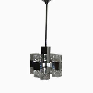 Vintage Cubist Ceiling Lamp from Sciolari, 1970s