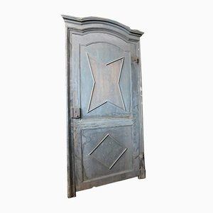 Antique Italian Blue Lacquered Doors, 1700s, Set of 5
