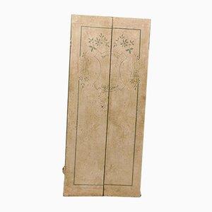 Porte Antique Laquée Blanc et Vert