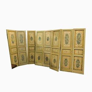 Antike lackierte italienische Doppeltüren, 4er Set