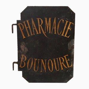 Antikes doppelseitiges französisches Apothekenschild