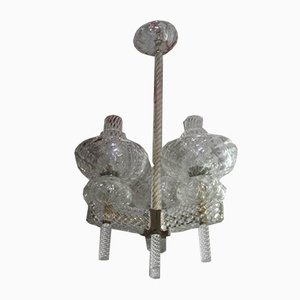 Model Diamond Glass Murano Glass Chandelier by Carlo Scarpa, 1930s