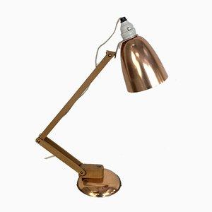 Lámpara de escritorio Maclamp de cobre de Terence Conran para Habitat, años 50