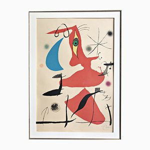 Large Oda a Joan Miró Colour Lithograph Print by Joan Miró, 1973