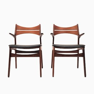 Model 310 Teak Armchairs by Erik Buch for Chr. Christiansen, 1960s, Set of 2
