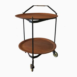 Scandinavian Foldable Teak Serving Trolley from Ary Fanerprodukter, 1950s