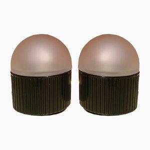 Lámparas de mesa Bulbo de Raul Barbieri & Giorgio Marianelli para Tronconi, años 80. Juego de 2
