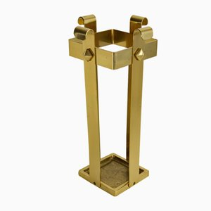 Hollywood Regency Brass Umbrella Stand, 1960s