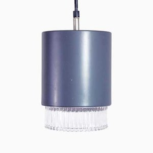 Vintage Suspended Slate Gray Ceiling Lamp from Willa, 1970s