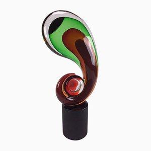 Große Ommagio a Jean Arp Glasskulptur von Romano Dona, 1950er