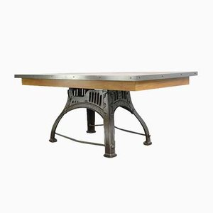 Antique English Industrial Table by Bamfords