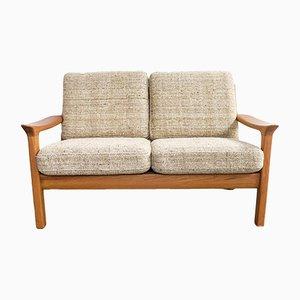 Mid-Century 2-Sitzer Sofa mit Wollbezug & Gestell aus Teak von Juul Kristensen, 1970er