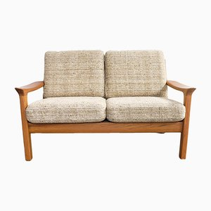 Mid-Century Teak & Wool Two-Seater Sofa from Juul Kristensen, 1970s