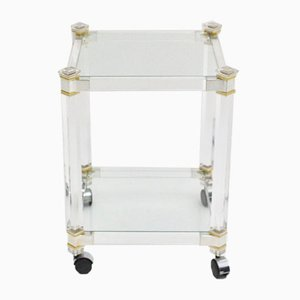 Two-Tiered Lucite Bar Cart, 1970s
