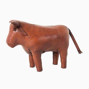 Sgabello a forma di toro in pelle di Dimitri Omersa per Omersa, anni '60