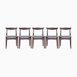 Esszimmerstühle aus Palisander von Slagelse Møbelværk, 1960er, 5er Set