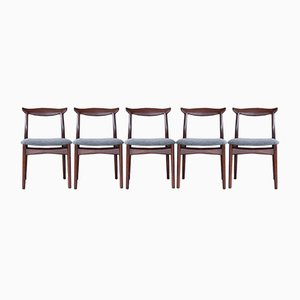 Rosewood Dining Chairs from Slagelse Møbelværk, 1960s, Set of 5